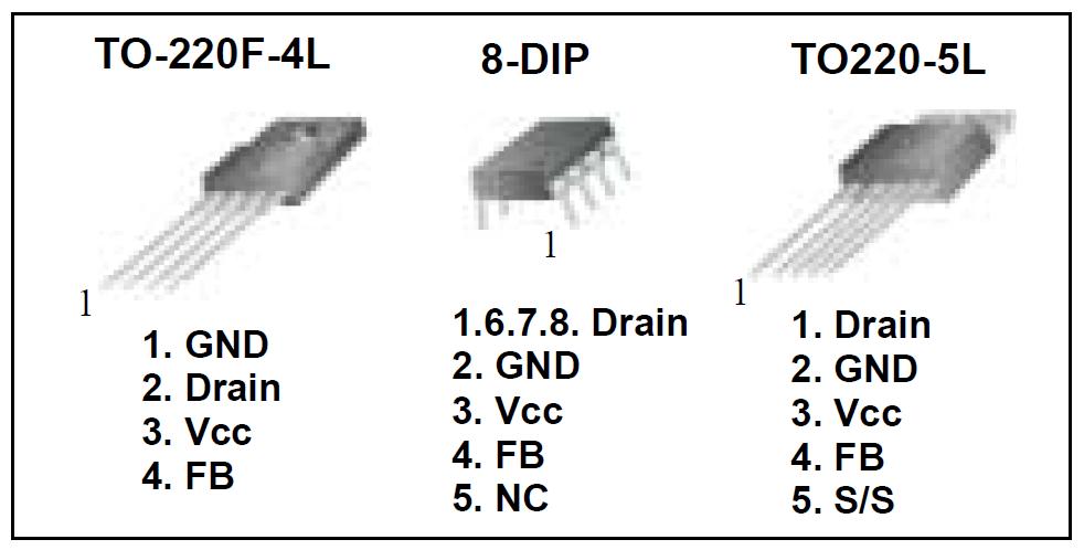 پایه های آی سی 5M0265RN